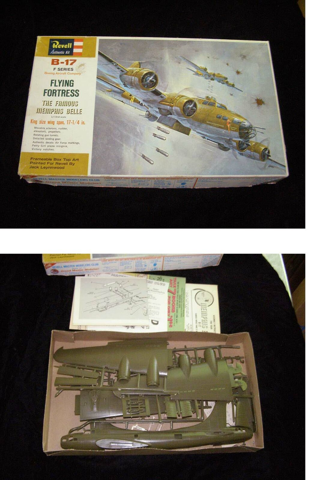Primary image for Revell B-17 F Series Flying Fortress Model Kit 1972