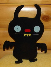 "Ugly Doll Black Plush 15"" Ninja Batty Shogun Classic - Wants PlayMate - $9.59"
