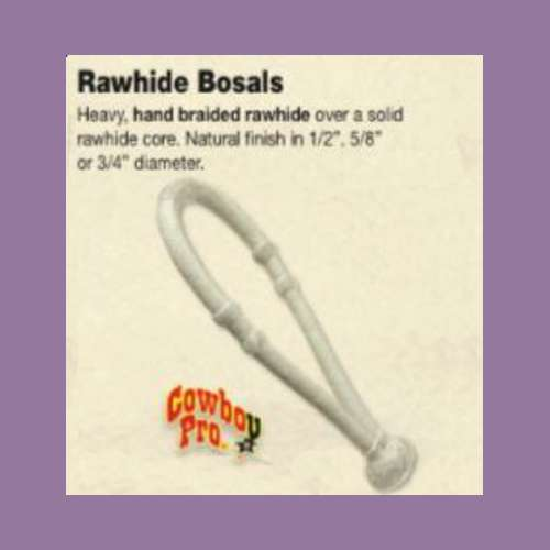 "Rawhide Bosal 3/4"" with Rawhide Core NEW"
