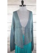 Olivvi womens Organic Glimmer Cardigan Sweater M L Art-To-Wear Lagenlook... - $105.00