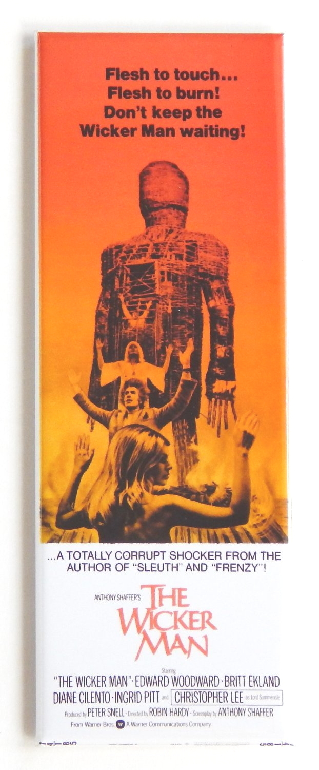 The wicker man movie poster magnet
