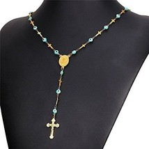U7 Tradition Five Decade Rosary In 18K Gold Plated Stainless Steel Amul... - $37.14
