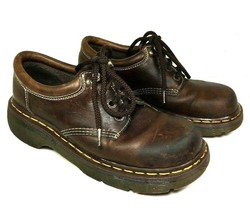 Dr. Martens Womens Brown Leather Lace Up Shoes Size US 9 - Distressed - $58.19
