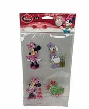 Walt Disney Stickers Decal gel cling Christmas Minnie mouse Daisy Duck Mistletoe - $13.50
