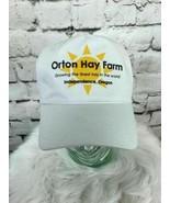Orton Hay Farm Mens One Sz Snapback Hat White Adjustable Baseball Cap - $11.88