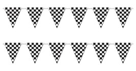 Beistle S57703AZ2, 2 Piece Checkered Giant Pennant Banners, 23'' x 12' B... - £17.59 GBP