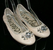 Sam Edelman 'Fauna' pink leather round toe jeweled slip on ballet flats 7.5M - $33.30