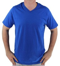 NEW GIOBERTI MEN'S PREMIUM ATHLETIC V NECK T-SHIRT TEE ROYAL BLUE VN-9503