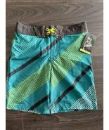 new ART CLASS boy's STRIPPED SWIM TRUNK sz 10 youth vacation beach short... - $11.78