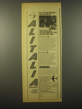 1965 Alitalia Airlines Ad - Fly to the middle east with us - $14.99