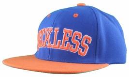 Young & Reckless LA Block Royal Blue Orange Snapback Baseball Hat Cap NWT image 2