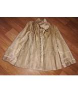 Womens collared crop mink fur coat - $300.00