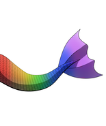 Rainbow mermaid tail v2 thumbtall