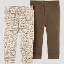 Just One You by Carter's Baby Boys' 2pk Fox Pants Brown Size Newborn NWT - $8.44