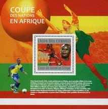 African Nation Cup Football Players Sport Souvenir Sheet Mint NH - $15.38