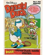 Disney Donald Duck Color Comic Book Magazine #8 London Ed 1988 Water Stain - $2.75