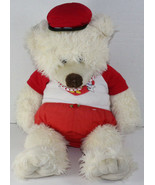 Build a Bear Workshop LARGE WHITE TEDDY BEAR w/ VALENTINE'S OUTFIT Stuff... - $22.86