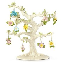 Lenox Celebrate Flowers Miniature Tree Ornaments Set 10 Tulip Lily Rose ... - $67.07