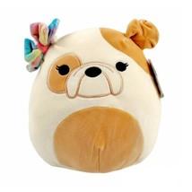 """Squishmallow 10"""" DAVITTA The Bulldog with  Bow Plush Toy KellyToy NWT - $22.75"""