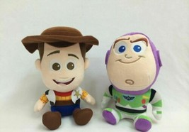 Hot Toy Story Woody Buzz Lightyear Plush Soft Doll 7''/18cm Tall set of 2 - $12.60
