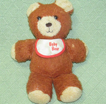 Vintage Fisher Price BABY BEAR 1984 Plush Teddy Brown Lovey Stuffed #970... - $23.38
