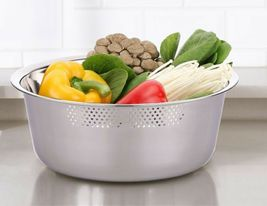 Kitchen Flower Round Stainless Steel Dishpan Basin Bucket Dish Washing up Bowl image 8
