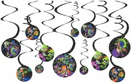 12 Splatoon Swirl Hanging Decorations - $12.32