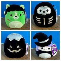 "Squishmallows Halloween Madeleine Stix Len & Paige 5"" Lot Of 4 Kellytoy New - $91.62"