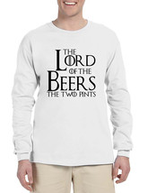 Men's Long Sleeve The Lord Of The Beers Two Pints Funny Tee - $19.94+