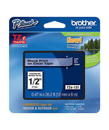 Brother TZe131 1/2 Black on Clear Laminated Tape - $15.99