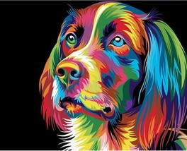 Paint By Numbers Kit Dog Animal 40CMx50CM Canvas - $13.86