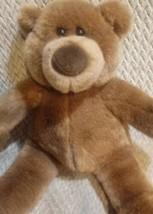 """GUND Brown Teddy Bear Stuffed Animal Plush 12"""" Valentine Hearts Feet Lov... - $15.86"""