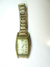 WALTHAM LONG ART DECO RECTANGLE ART DECO WATCH WITH ORIG BAND FOR RESTOR... - $140.29
