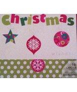 Christmas Wishes 16cards & Printed Self-Sealing Envelops - $14.69
