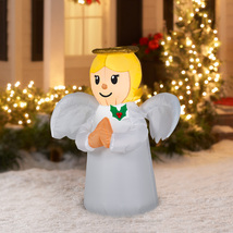 Christmas Yard Decor Angel Xmas Outdoor Decorations Inflatable Airblown ... - $33.98