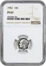 1952 10c NGC PR 67 - Roosevelt Dime - $67.90