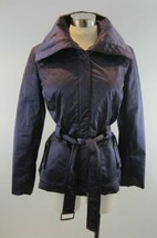 ST JOHN Deep Amethyst Purple Quilted Belted Jacket S 6 - $69.30