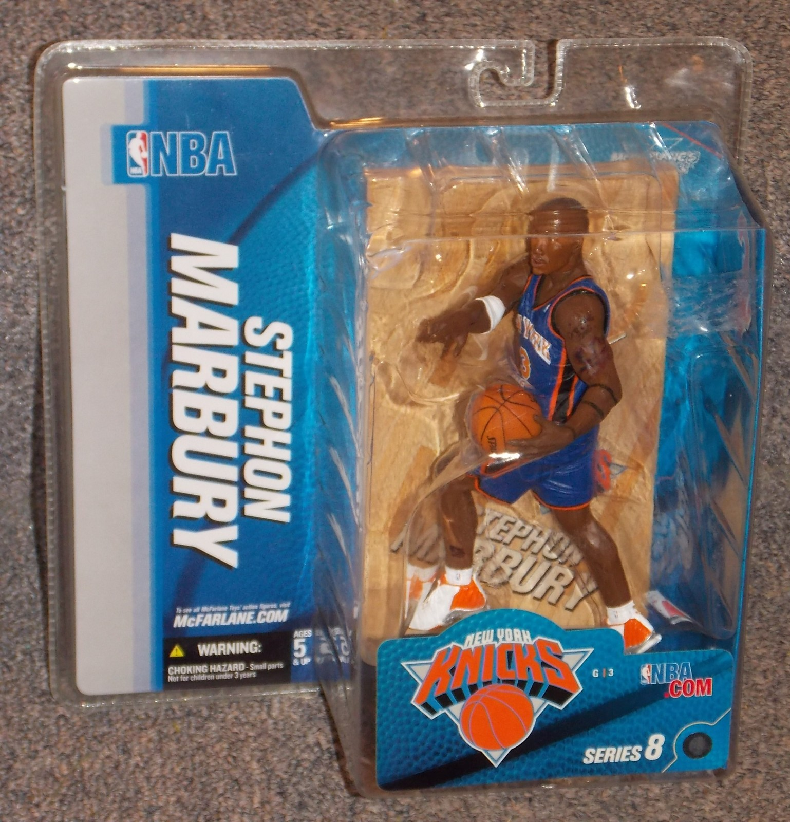 Primary image for 2005 McFarlane Toys New York Knicks Stephon Marbury Action Figure New In package