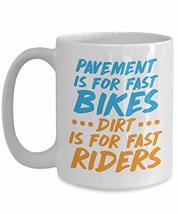 PixiDoodle Fast Bikes Dirt Bikes for Fast Riders - Racing Coffee Mug (15 oz, Whi - $21.84