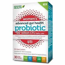 Genuine Health Advanced Gut Health Probiotics for Women UTI, 50 Billion Cfu, 15