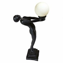 "ILLUMINATED SCULPTURE 29"" Table Lamp Offering Light Globe Nude Female Ar... - $139.95"