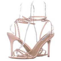 Steve Madden Wish Studded Ankle Strap Sandals 877, Blush, 11 US - $33.59