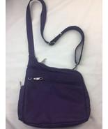 Travelon Anti-theft Crossbody Bag Purple Adjustable Strap Lightweight Tr... - $37.39
