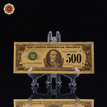 WR Gold Bank Note US $500 Dollar Gold Banknotes for Sale with 3D Display... - $6.65
