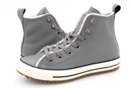 Converse Womens Gray CTAS Hiker Boot Hi Leather Lace Up Sneaker Shoes - $49.99