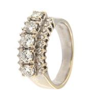 Women's 18kt White Gold Cluster ring - $889.00
