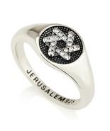 Silver 925 Star Of David Zircons Ring Jewish Magen David Charm Judaica G... - $48.99