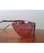 Pink Cat Eye Frameless Crystal Accent Sunglasses - $20.00
