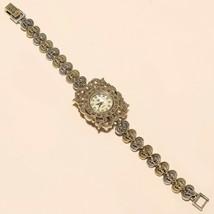 Thailand Marcasite Wrist Watch 925 Sterling Silver Wedding Fine Jewelry ... - $51.35