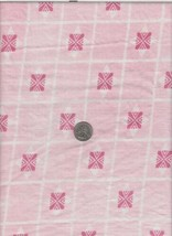 Square Small Tablecloth Handmade Vintage Feedsack Pink Purple Squares - $4.00
